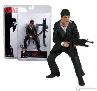 The Fall 7 Tony Montana Action Figure Mezco Toy Black Suit