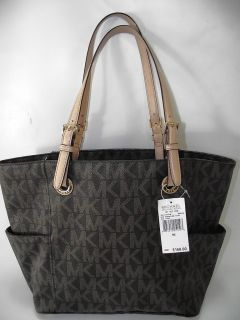Authentic Michael Kors Jet Set E w Signature Tote Brown