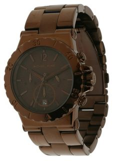 Michael Kors Ladies Espresso Brown Chronogragh Watch MK5519