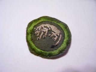 Boy Scout Merit Badge Type E Stalking Khaki Twill Narrow Crimped 1947