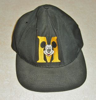Black Mickey Mouse Ha Baseball Cap Syle Snap Back One Size Fis All