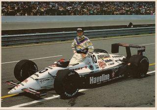 Michael Andretti Indy 500 Postcard Newman Haas Racing