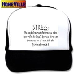 Mesh Ball Cap Hat Stress Definition Funny