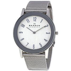 Skagen Mens Stainless Steel Mesh Watch 39XLSS