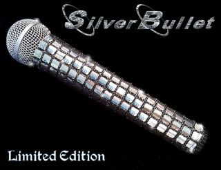 Cover Silver Bullet Silver Microphone Cover for Cordless Mic