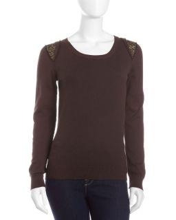 Michael Michael Kors Sequin Shoulder Sweater
