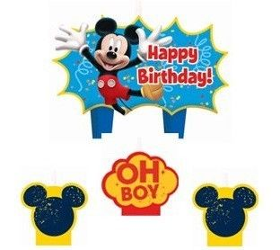 Disney Mickey Mouse Birthday Cake Candles Party Set Decoration Toppers