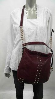 Michael Kors Uptown Astor Large Removable Strap Hobo Burgundy Handbag