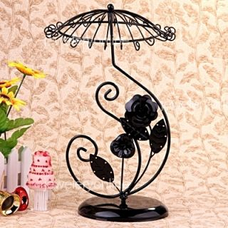 Pendant Jewelry Black Metal Display Stand Holder Rack 13x8