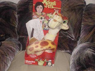 Michael Jackson Pets Muscles Snake Plush Box Cassette