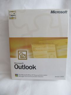 New Retail Box Microsoft MS Office Outlook 2002 Full Version