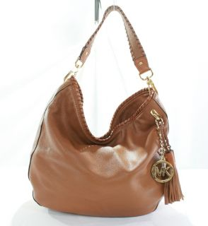 Michael Kors New Womens Brown Leather Large Bennet Shoulder Bag