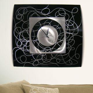 Modern Abstract Metal Wall Art Decor SculptureBlack Controlled Chaos