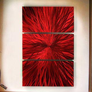 Metal Abstract Modern Red Large Wall Art Sculpture Decor Jon Allen