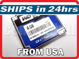 Digital WD40WP 40LPV0 4GB Microdrive CompactFlash Compact Flash CF