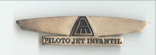 Mexicana Airlines Piloto Jet Infantil Wings Badge