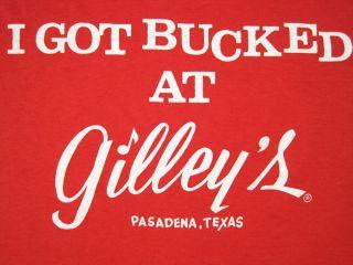 Early 80s Vintage Mickey Gilleys Bar Pasadena Bull Rider Texas Large