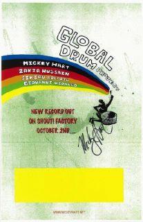 Mickey Hart Grateful Dead Signed COA Concert Poster 2007 Original