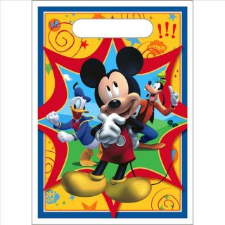 Mickey Mouse Birthday Party Favor Loot Bags 8 NIP