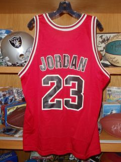Michael Jordan Chicago Bulls Vintage Champion Jersey 48 Slight Damage