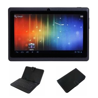 A13 Android 4 0 Tablet 4GB Black Micro USB Keyboard Case Bundle