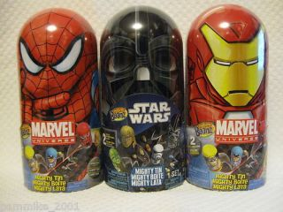 Mighty Beanz Star Wars Spiderman Iron Man Marvel Target Tin Case Gift