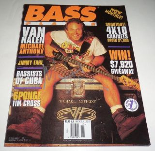 Michael Anthony Signed Bass Player Magazine November 1995 Van Halen