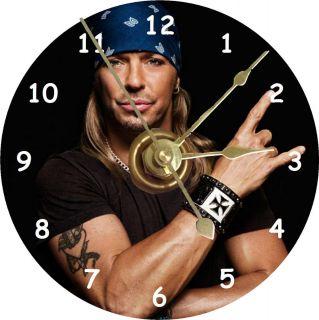 New Singer Bret Michaels Poison CD Clock