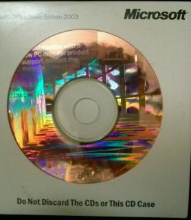 Microsoft Office Basic Edition 2003 Full Version with Key Code SEALED