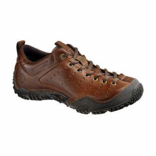 Caterpillar Mens Terrain Mike Rowe Oxford Shoes Dark Beige Leather