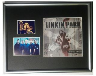 Signed Linkin Park Mike Shinoda CD Cover Framed