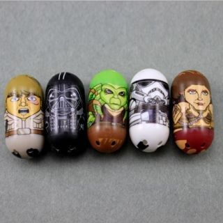 Pcs Mighty Beanz Star Wars Darth Vader Leia Kit Fisto Luke L234