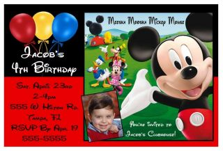 Mickey Mouse Clubhouse Birthday Party Invitations w Pic