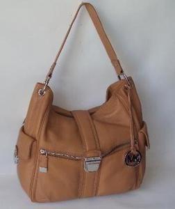 Michael Kors Womens Riley Shoulder Bag Peanut Large Leather Hobo