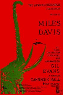 Jazz Miles Davis at Carnegie Hall Concert Poster 1963