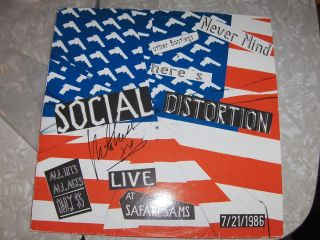 Social Distortion Bootleg Autographed by Mike Ness