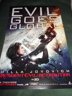 Evil Retribution Movie Poster Milla Jovovich Alice Michelle Rodriguez