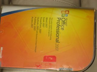 Microsoft Office Professional 2007   Full Version   Sealed NIB