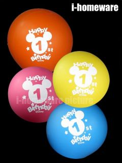 Mickey Mouse Birthday Party 8x Pcs 1 St Balloons M996