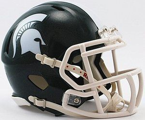 New Michigan State Spartans Revolution Speed NCAA Riddell Mini Helmet