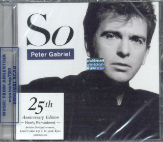 PETER GABRIEL, SO – 25TH ANNIVERSARY EDITION. REMASTERED. FACTORY
