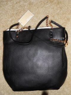 Michael Kors Black Jet Set NS Chain Tote Signature Tote