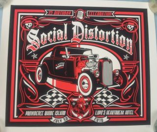 Distortion Concert Poster Limited Edition Very RARE Mike Ness