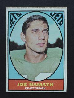 1967 Topps Milton Bradley Joe Namath 98 Jets AFL