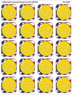 TCR4200 US Olympic Gold Medal Stickers New Classroom Decorative