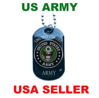 United States US Army Necklace Armed Forces Military Dog Tag Pendant