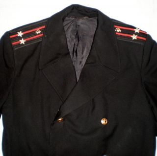 Vintage Russian Soviet Military Navy Naval Army Uniform Cloak Cape