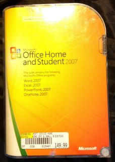 MS Office Home Student 2007 Full Retail with KEY Code Word Excell PP