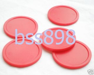 Red Air Hockey Table 5 Mini Pucks 50mm Puck Children Table