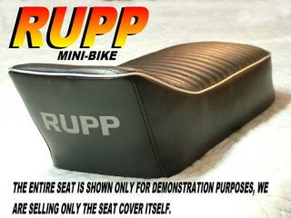 Rupp Mini Bike Replacement Seat Cover Roadster TT500 324
